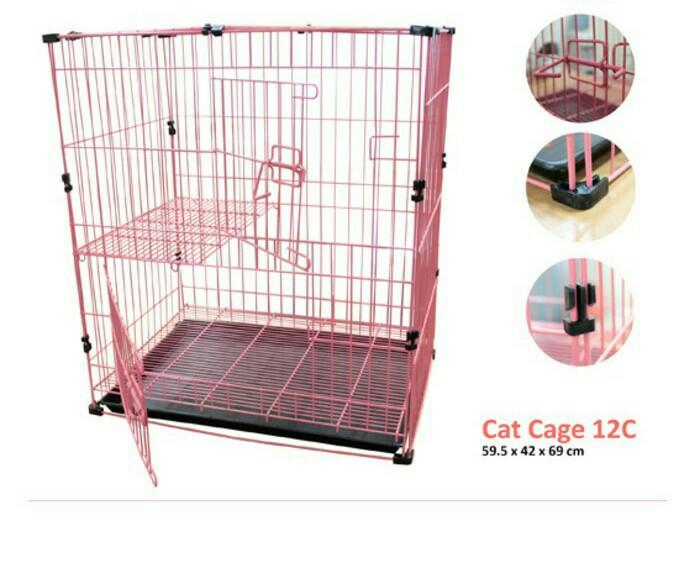 harga Kandang 12 c untuk hewan kucing kelinci tingkat 2 lantai / cage 12 c Tokopedia.com