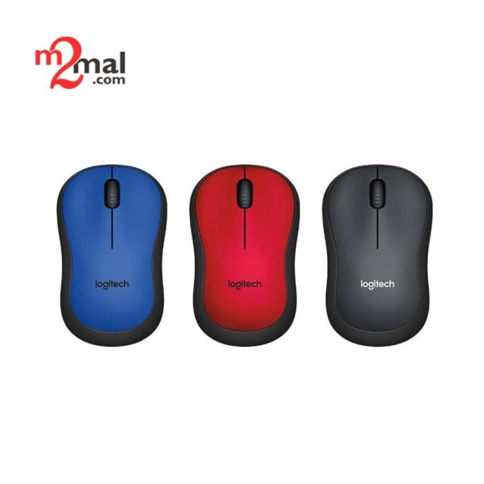 Foto Produk Logitech Silent Wireless Mouse M221 - Charcoal / Blue / Red dari M2Mal