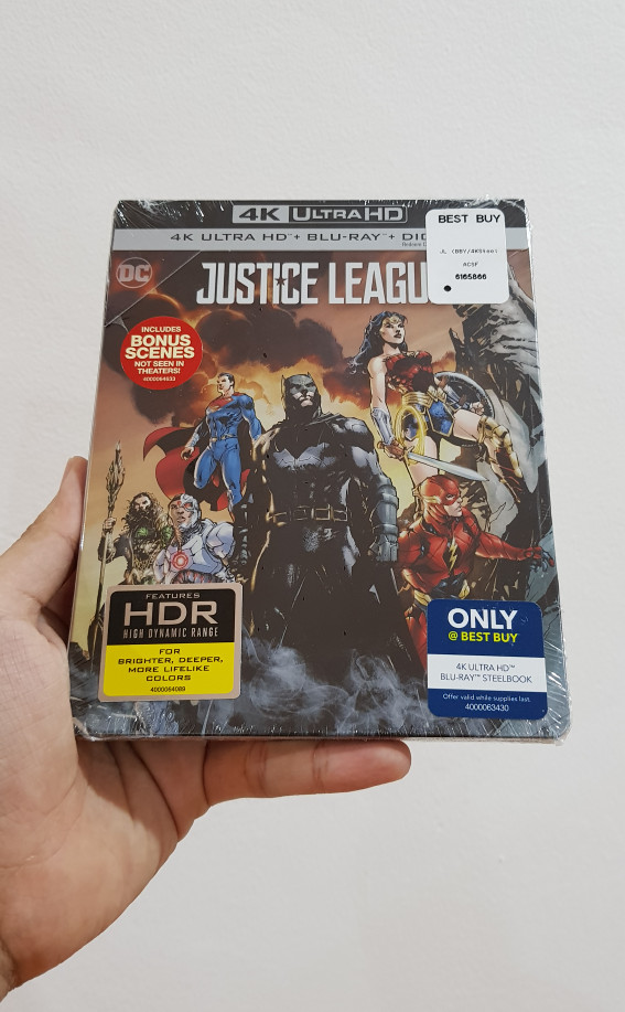 harga Justice league (4k/uhd + blu-ray) steelbook bestbuy original bluray Tokopedia.com