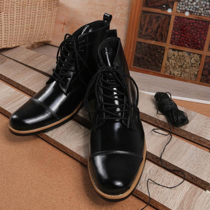 harga Sepatu boot pria kulit asli sepatu pantofel sepatu formal boston pavel Tokopedia.com