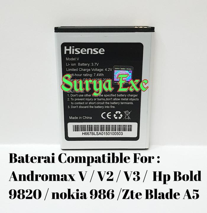 harga Baterai zte blade a5 / andromax v v2 v3 / hp bold v9820 / nokia 986 o Tokopedia.com