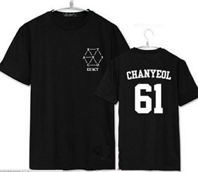 harga Kaos / tshirt / baju exo exact chanyeol 61 bisa ganti nama Tokopedia.com