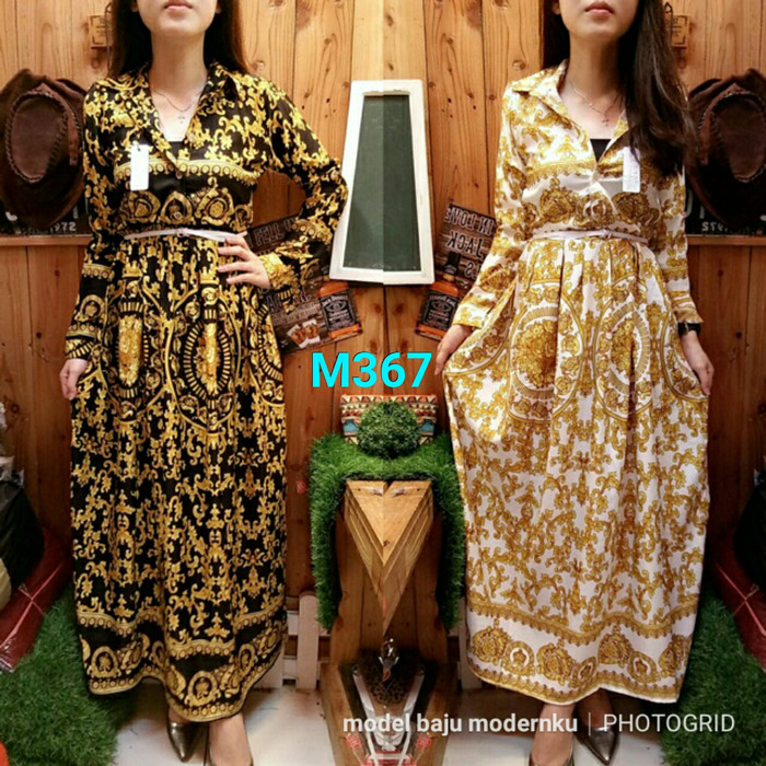 Jual Gamis Etnik Goldie M367 Ethnic Fit To L Bahan Maxmara Model