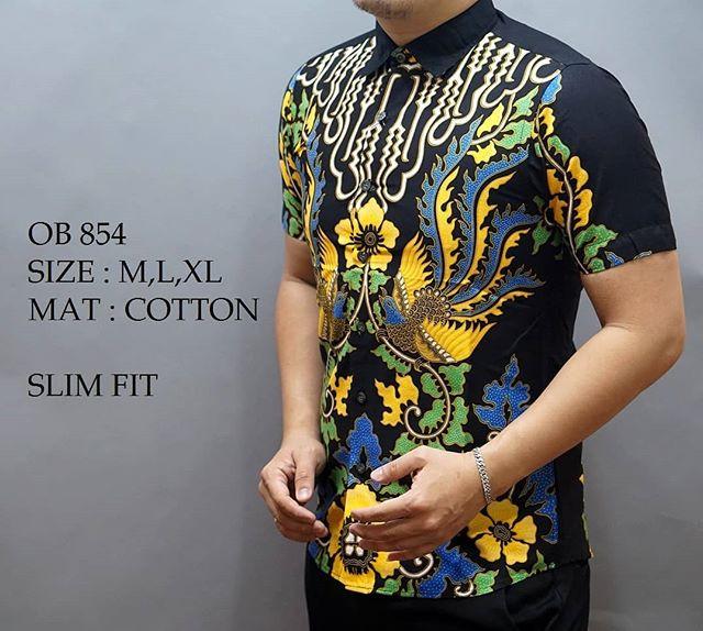 harga Kemeja batik pria slim fit / baju batik pria slim fit ob854 Tokopedia.com