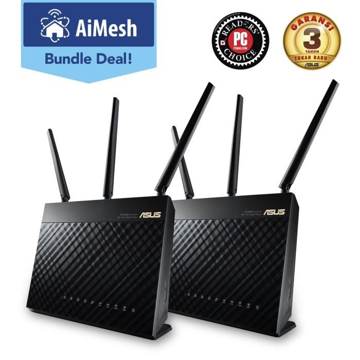 harga Asus wireless rt-ac68u gigabit wifi router ac1900 aimesh mesh 2pcs Tokopedia.com