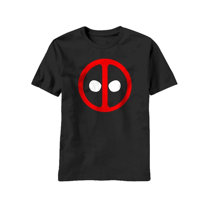 New Marvel Deadpool Icon Badge Mens T-Shirt
