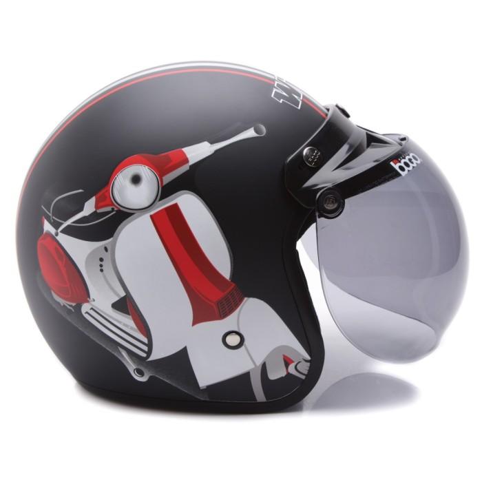 [Helm Dewasa] WTO Helmet Retro Bogo - Vespa - Hitam Doff 2