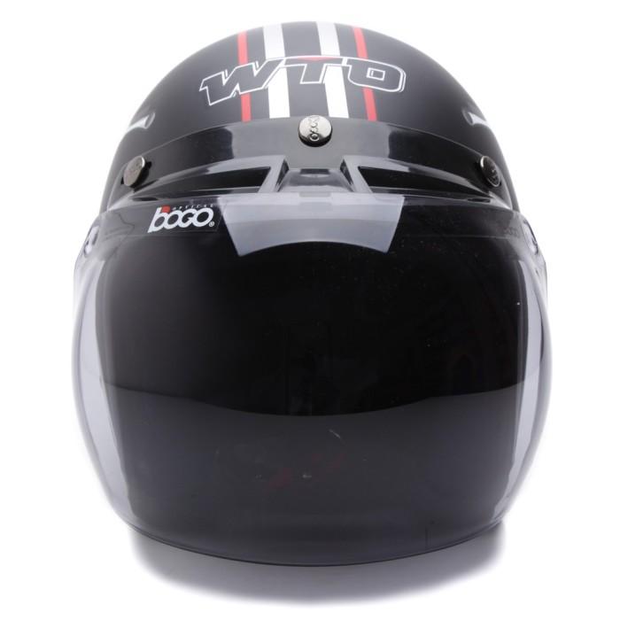 [Helm Dewasa] WTO Helmet Retro Bogo - Vespa - Hitam Doff 3