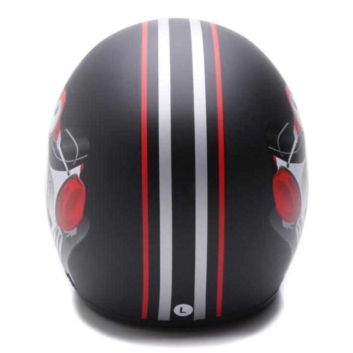 [Helm Dewasa] WTO Helmet Retro Bogo - Vespa - Hitam Doff 1