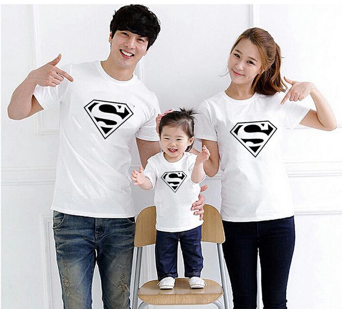 Foto Produk Kaos Couple Family Logo Superman Spm002 dari lysinshop