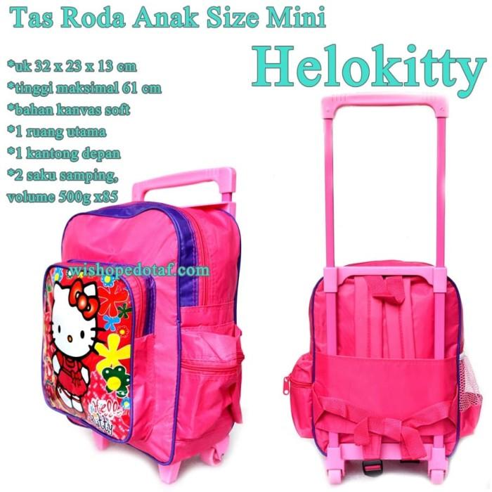 harga Tas koper roda ransel anak mini hello kitty Tokopedia.com