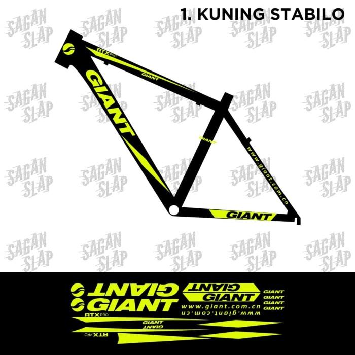 harga Stiker sticker decal frame sepeda giant atx pro Tokopedia.com
