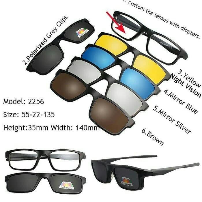... harga Kacamata oakley clip on 5 lensa dengan sistem magnetic seri 2256  Tokopedia.com 334164aaa7