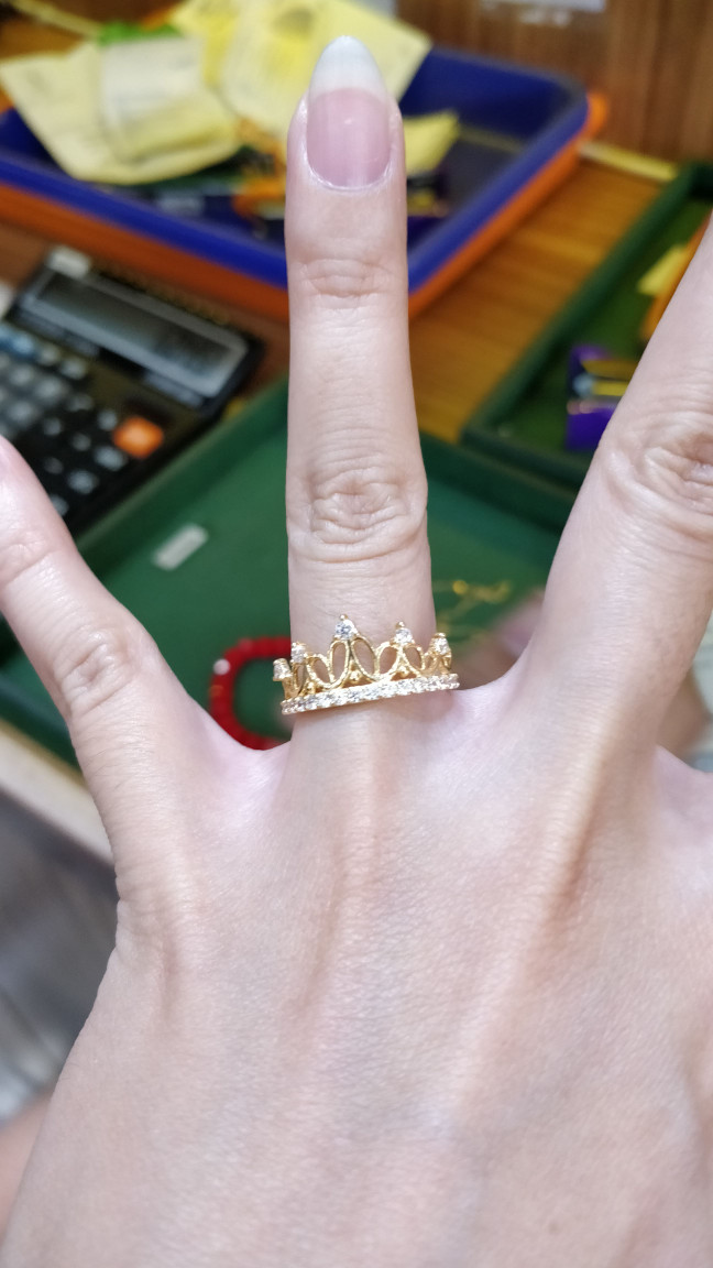 harga Cincin mahkota size 12, mas 70, 1.950gr Tokopedia.com