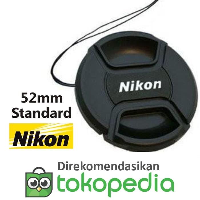 harga Tutup lensa kit nikon d3000 d5000 d60 d40 d40x lens cap logo 52mm Tokopedia.com