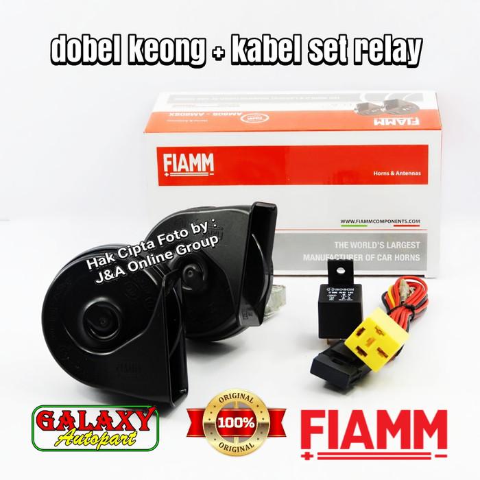 harga Klakson dobel keong fiamm plus kabel set klakson bosch standart Tokopedia.com