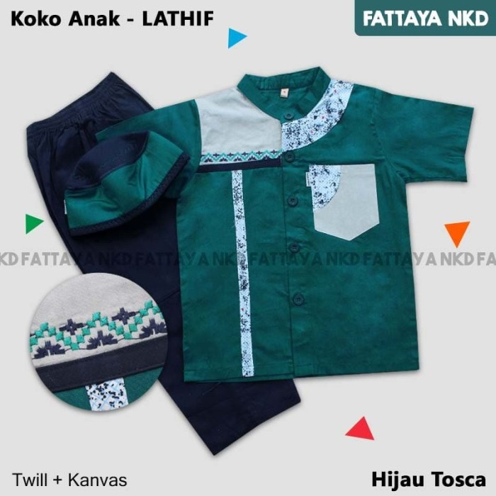 Setelan Koko Anak Fattaya, Lathif, Size 6, Baju Taqwa Anak 1