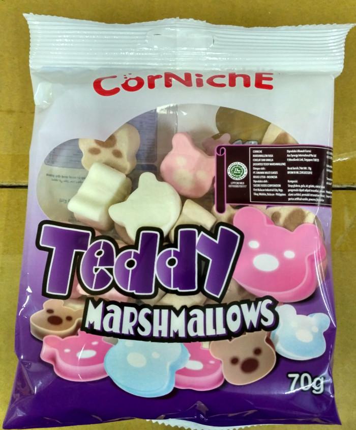 Corniche Teddy Marshmallow / Permen Kapas Teddy 70gr