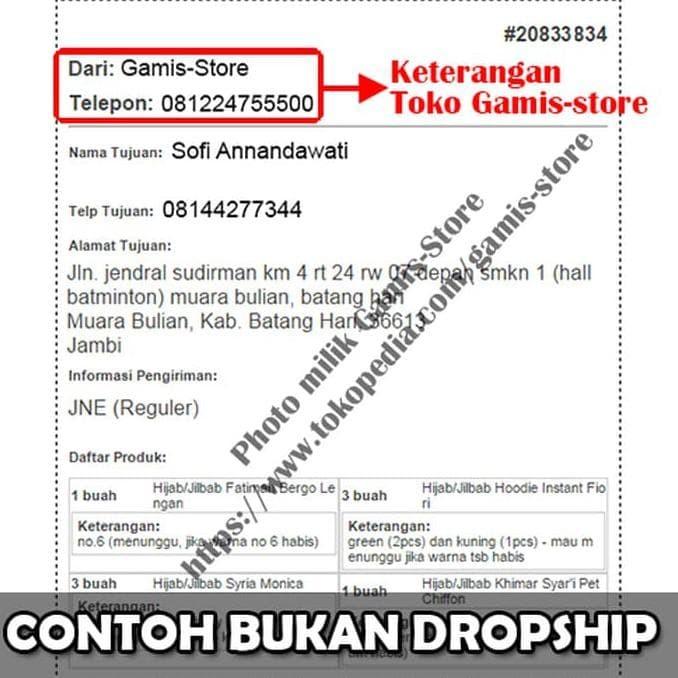 Jual Jilbab Aturan Nama Dropship Dropshipper Wajib Baca Grosir Kab Semarang Gudang Kemeja Muslim Tokopedia