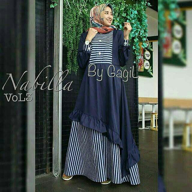 Jual Nabilla Dress Vol 3 Busana Muslim Mewah Elegan Murah Harga Grosir Kab Bandung Tuneystore Tokopedia