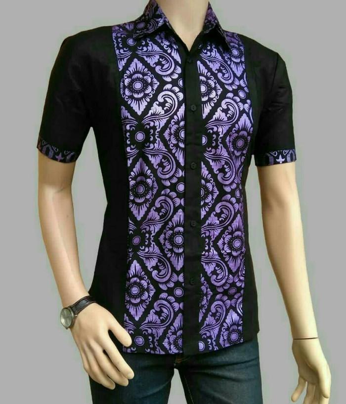Jual Hem Batik Kombinasi Kemeja Batik Batik Pria Modern Kota Pekalongan Srikaha Batik Tokopedia
