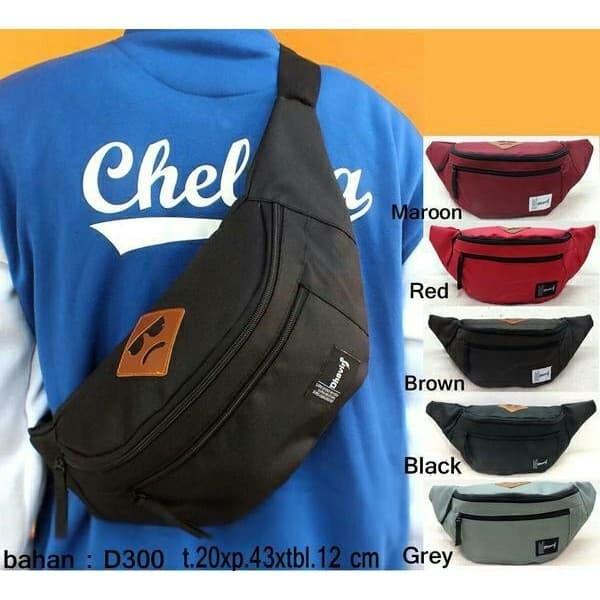 Carboni Weistbag Ransel Tali Satu . Source · Tas selempang Distro / waistbag murah AS 001 - Hitam