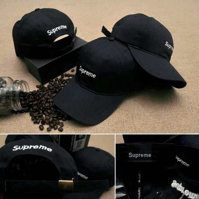 78e7365f ... harga Topi baseball supreme/ supreme cap original import / hat  Tokopedia.com