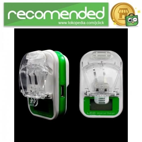 harga Travel charger baterai handphone universal - hijau Tokopedia.com