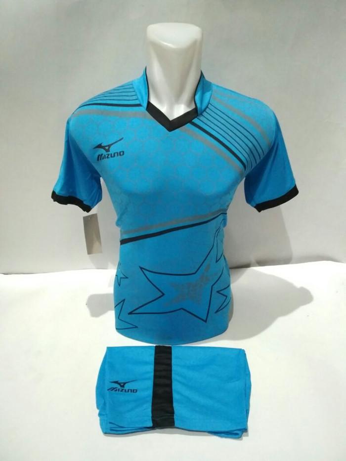 harga Setelan olahraga kaos bola jersey futsal baju volly mizuno star biru  Tokopedia.com f8b9ab5067
