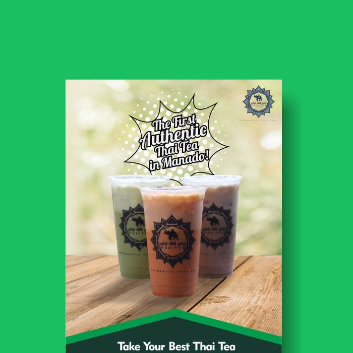 Jasa Desain Banner Minuman Thai Tea