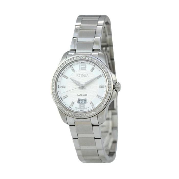 [original] bonia b10145-2315s jam tangan wanita stainless steel