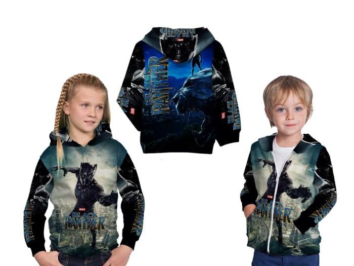 harga Jaket sweater anak fullprint custom black panther 01 Tokopedia.com