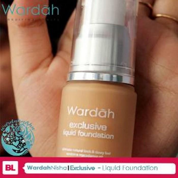 Wardah Exclusive Liquid Foundation 02 Sheer Pink grab it fast