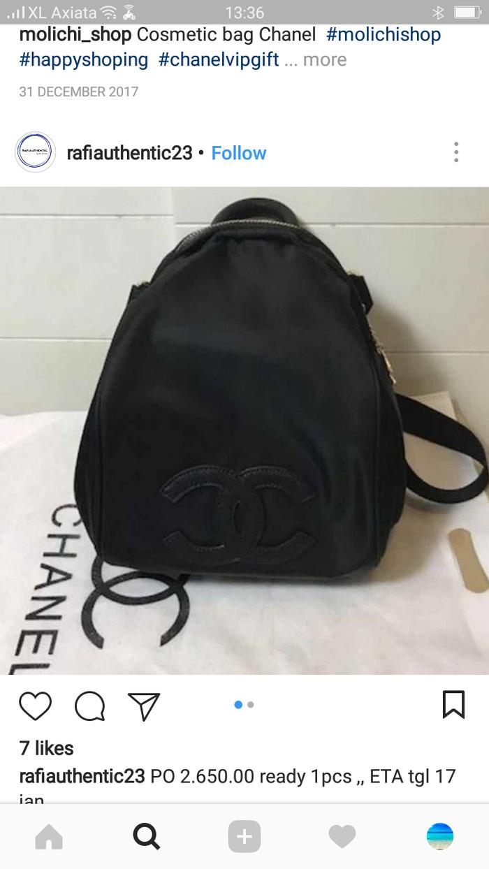71f0495d2d9c harga Tas chanel backpack vip gift original Tokopedia.com