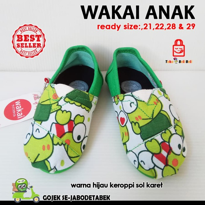 harga Sepatu slip on anak - hijau keroppi. sepatu anak. slip on anak Tokopedia.com
