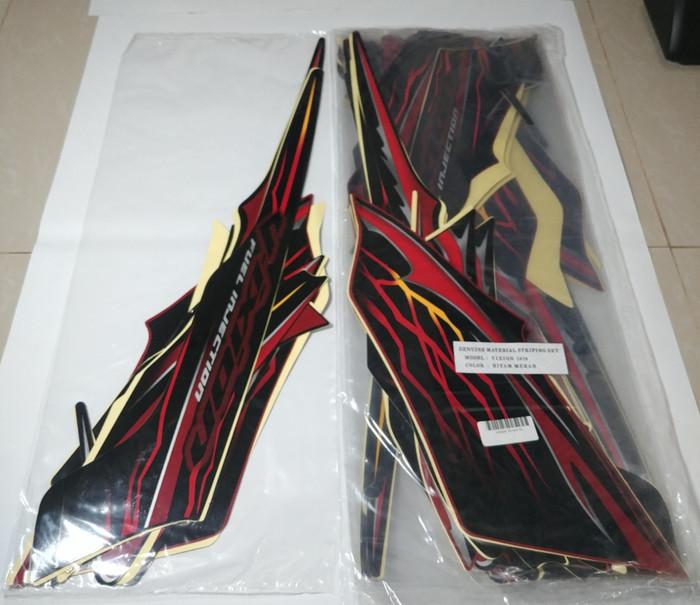 Stiker bodi & lis body & striping vixion 2010 hitam merah ...