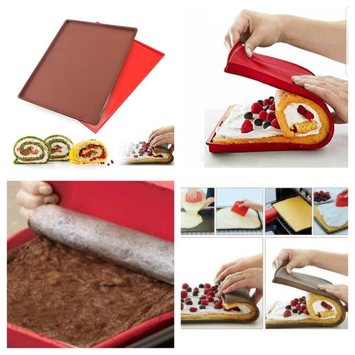 harga Loyang silicone sheet bolu gulung roll cake swiss roll cetakan kue Tokopedia.com