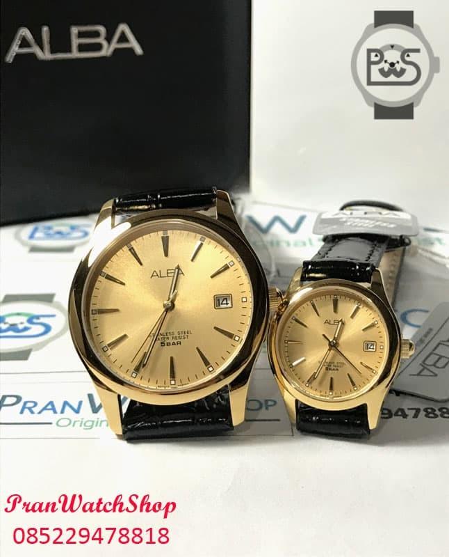 harga Jam tangan alba pria wanita gold kulit hitam axhl64 axu034 axnd62 ori Tokopedia.com