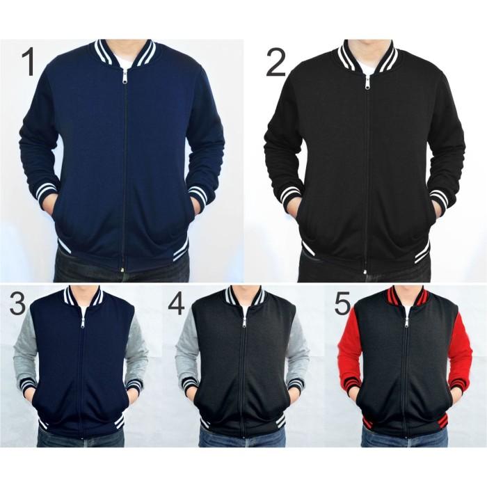 harga Sweater jaket pria big size jaket baseball varsity polos xxl xxxl  Tokopedia.com de7bc28a8e