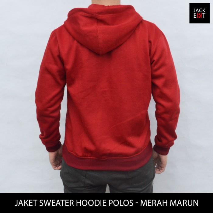 Jaket Sweater Pria Jaket Sweater Polos Merah Marun