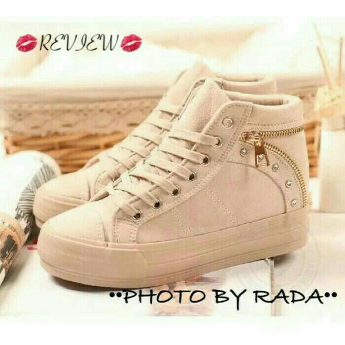 Jual sepatu boot wanita cream cek harga di PriceArea.com 1f995fe611