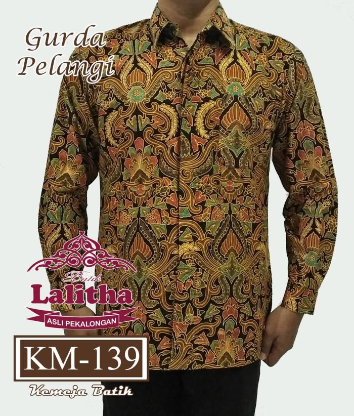 Jual Kemeja Batik Pria Lengan Panjang   Baju Batik Pekalongan Modern ... d9cfa85e31