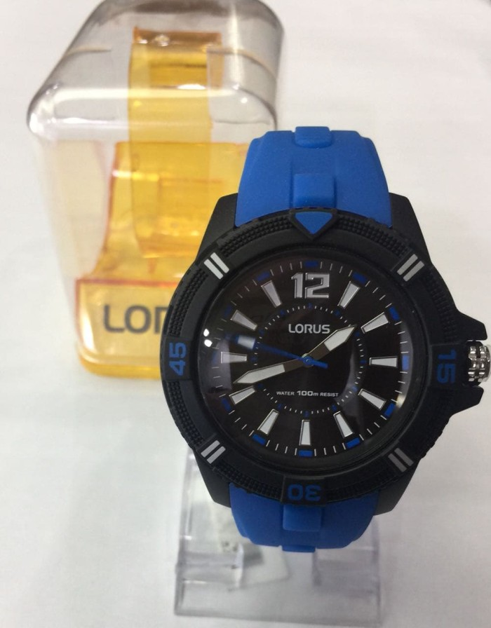 JAM TANGAN PRIA LORUS RRX15FX-9 BLUE BLACK ORIGINAL