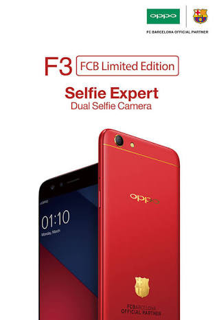 harga Oppo f3 barcelona 4/64 limited edition garansi resmi red barca Tokopedia.com