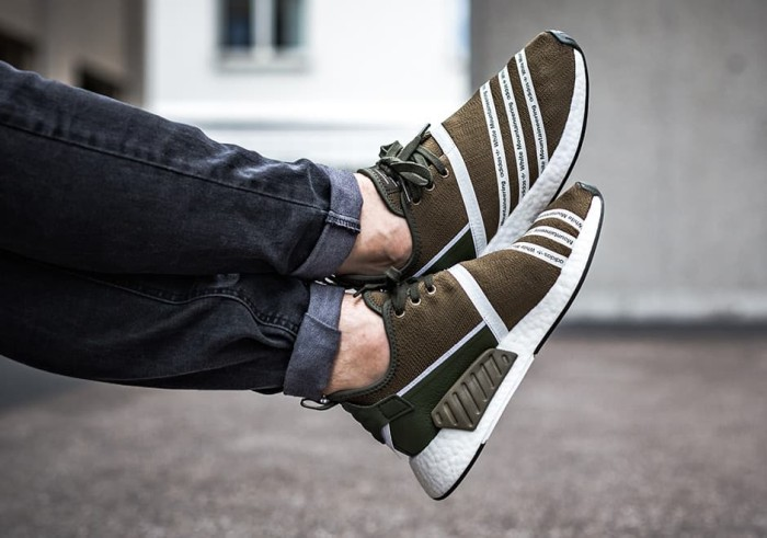 72d92acc Jual Adidas NMD R2 x White Mountaineering Trace Olive *FAST PO ...