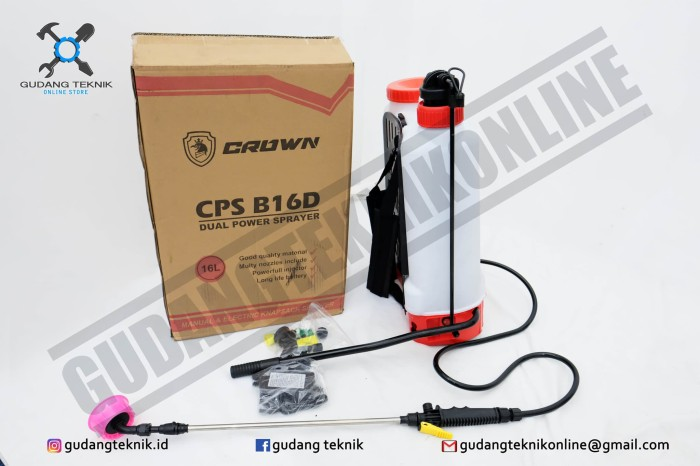 harga Alat Semprot Hama Sprayer Elektrik Crown 2 in 1 Tokopedia.com