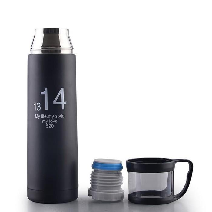 Botol minum tumbler thermos dengan cup head dengan gelas 500ml…