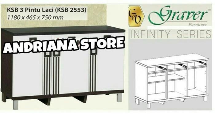 Jual Kitchen Set Bawah Ksb 2553 Diskon Makmur Store Tokopedia