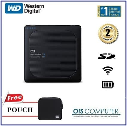 harga Wd my passport wireless pro 2tb hdd hardisk eksternal - wdbp2p0020bbk Tokopedia.com