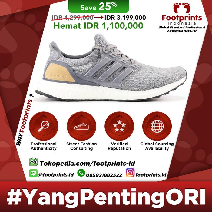 Jual Adidas Ultra Boost 3.0 Grey Leather Cage 100% Original Sneakers DKI Jakarta Footprints Indonesia | Tokopedia